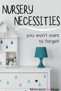 nursery checklist, nursery essentials