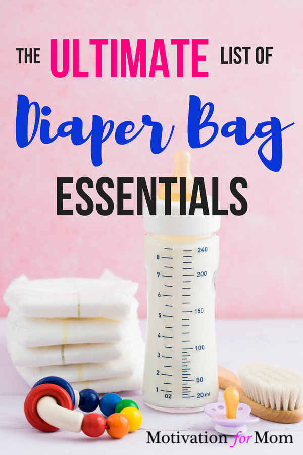 diaper bag essentials, diaper bag checklist, what should i put in my diaper bag, everything you'll need for baby