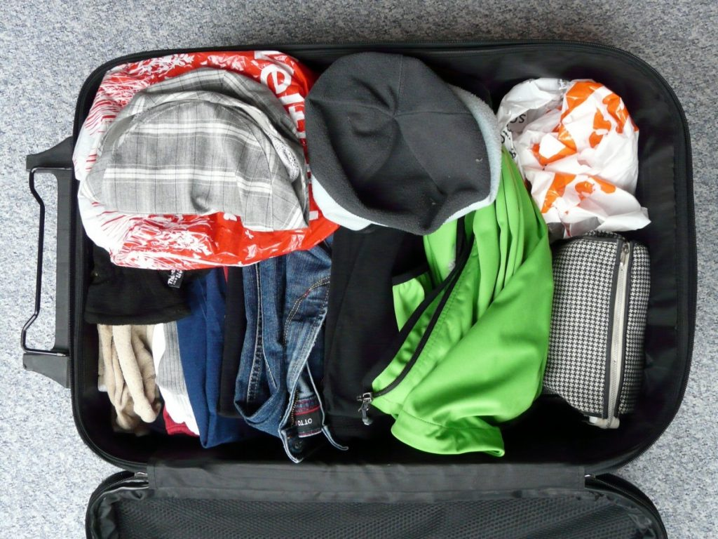 packing to travel, traveling, packing light, travel with kids