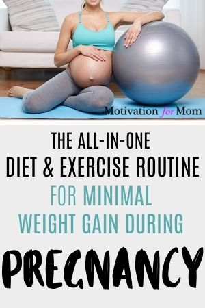 diet and exercise for minimal weight gain during pregnancy