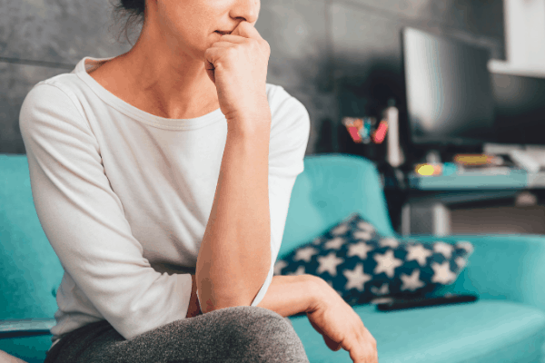 woman struggling, sad, anxious, depressed