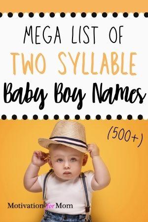 two syllable baby boy names