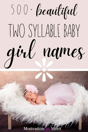 two syllable baby girl names