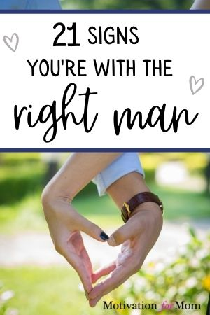 signs you're with the right man
