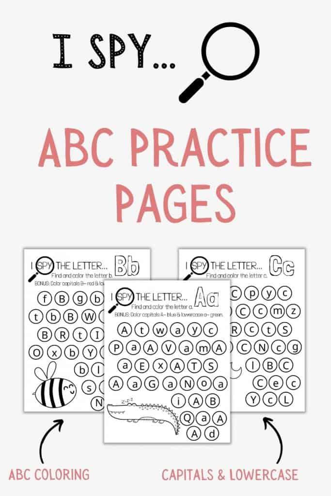 I SPY ABC practice